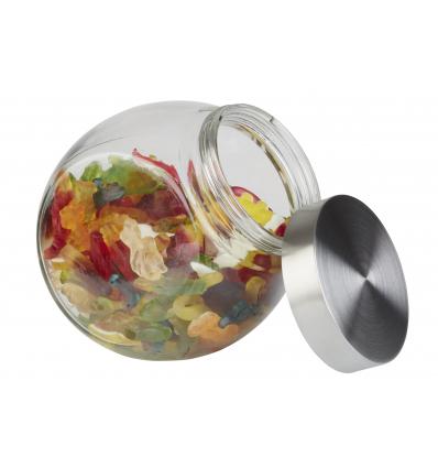 APS 637 Tarro cristal con tapa inox 1 l. 12.5x19x18 cm