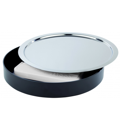 APS 9003 Pure expositor refrigerador inox negro para buffet ø38x6 cm