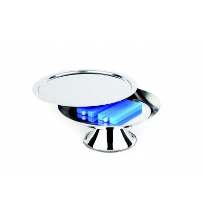 APS 9083 Set expositor refrigerador con pie inox 18/10 ø38x14.5 cm