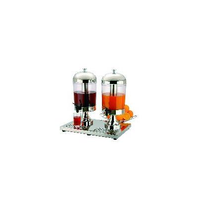 APS 10810 Dispensador zumo inox refrigerado doble 2x8 l.