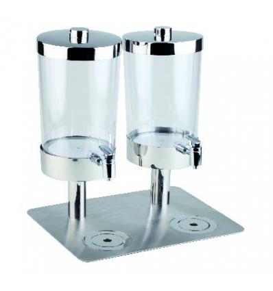 APS 10862 Sunday dispensador zumo transparente 2x6 l. 35x45x48 cm