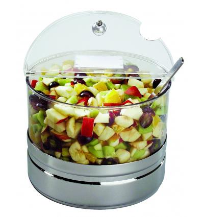 APS 11849 Expositor refrigerador acrilico-inox 18/10 para fruta 4 l.