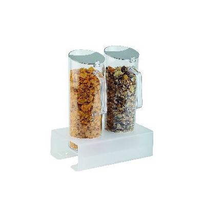 APS 11972 Set dispensador cereales stand + 2jarras + 2tapas