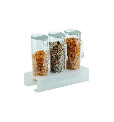 APS 11974 Dispensador cereales 7 piezas con tapas 38x17x32.5cm