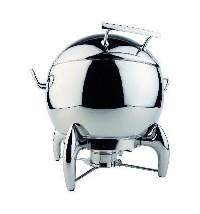 APS 12398 Globe chafing dish redondo inox con tapa 10 l.