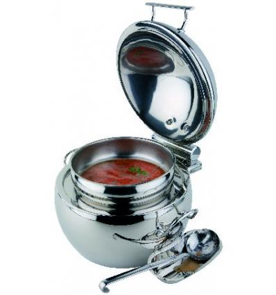 APS 12399 Globe chafing dish sopera redondo inox 10 l. Ø48x32cm