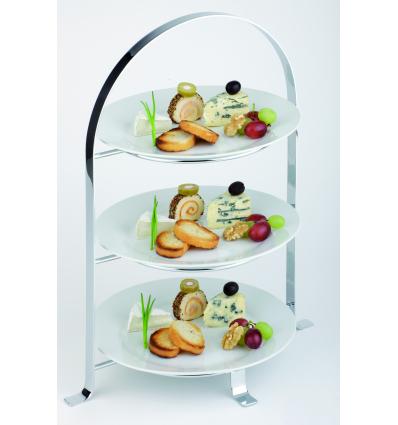 APS 33217 Expositor tartas para 3 platos 33x24 cm alto 43 cm