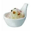 APS 84018 Gourmet bol mini melamina blanco para coctail 5 cl ø7x6 cm