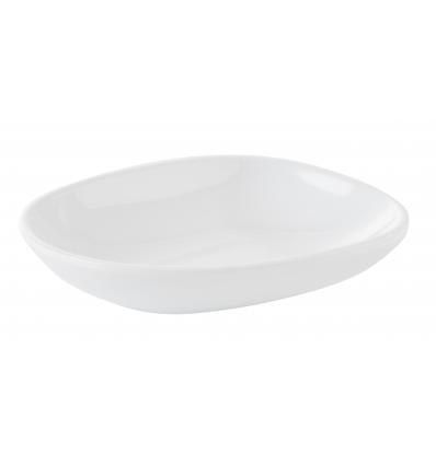 APS 84444 Mini plato aperitivo melamina blanco 7 cl 10.5x8.5x2 cm